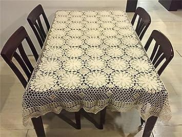 World- ganchillo hecho a mano encajes ganchillo algodón funda de tela de gamuza de sofá manteles toalla de gamuza de funda universal: Amazon.es: Hogar