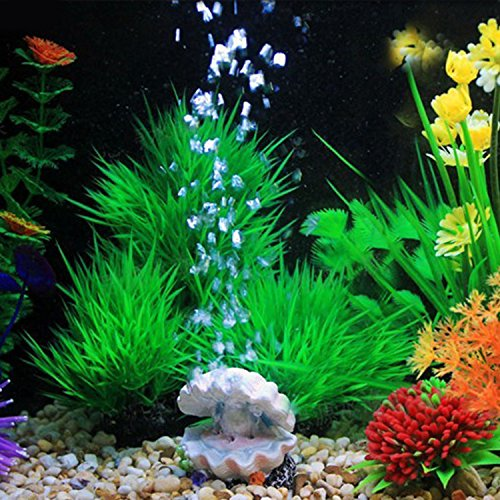 Kangkang@ Fashion Pearl Shell Volcano Coral Shape Toys Aquarium Decoration Fish Tank Oxygen Pump Air Bubble Bomb Air Stone Drive Ornament (Shell)