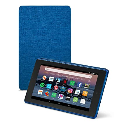 size 40 71939 2a5a1 Amazon Fire HD 8 Tablet Case (Compatible with 7th and 8th Generation  Tablets, 2017 and 2018 Releases), Marine Blue