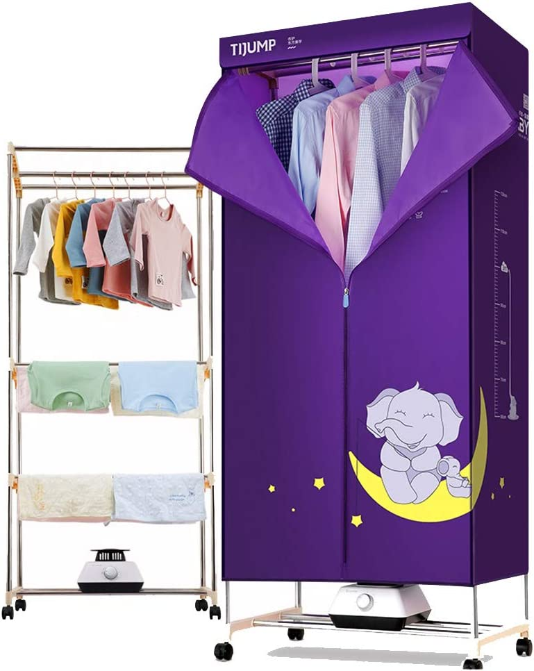 1200W Ropa de bebé Ropa de bebé Ropa Interior Ropa Interior Armario de desinfección con Calentador de Tiempo (Color : Purple, Tamaño : Stainless Steel)