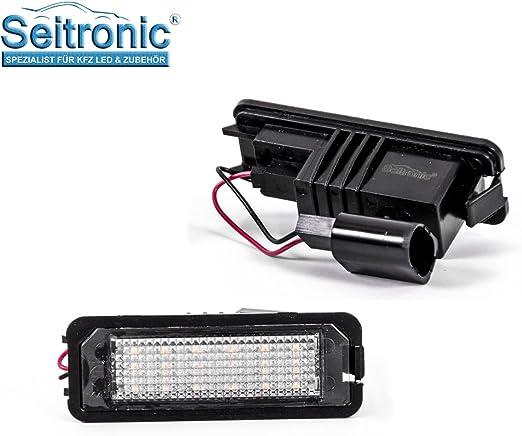 Premium Led Kennzeichenbeleuchtung 2 Module Passgenau Für Ihr Fahrzeug Abnahme Frei Sehr Hell Mit E Prüfzeichen Auto