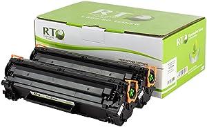 Renewable Toner Compatible Toner Cartridge Replacement for HP 83A CF283A LaserJet Pro M125 M127 M201 M225 MFP (Black, 2-Pack)