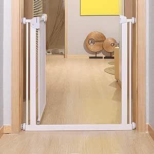 FCXBQ Puertas para bebés para escaleras con barandillas, Puertas para Perros Paseo Extra Ancho con Marcos para Puertas Que se extienden para escaleras (tamaño: 137-141 cm): Amazon.es: Hogar