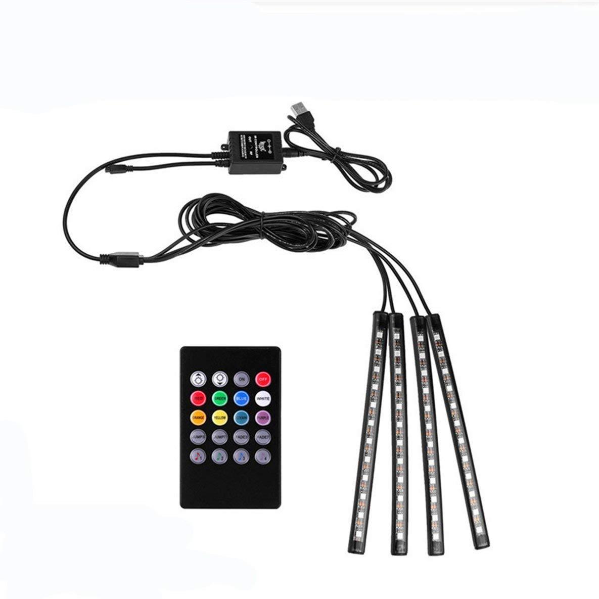 Noradtjcca Auto Fernbedienung//App//Sprachsteuerung RGB Zigarette DRL Streifen Licht LED Wireless Lampe Innenboden Fu/ß Atmosph/äre Dekoration Licht