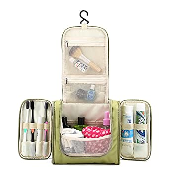 ad6d428ba1 Trousses de Toilette, Gindoly Sac de Toilette Suspendu Étanche Portable Voyage  Cosmétique Make Up Bag