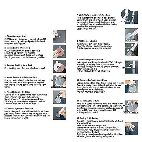 Herramientas de reparación de cristal del parabrisas del coche Kit de pulido de ventana del parabrisas automático Chip Crack Star Bullseye DIY Set ...
