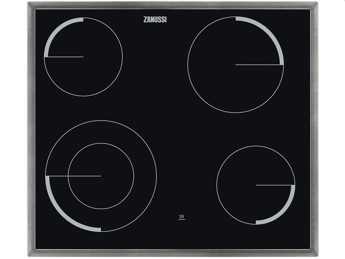 zanussi ZEV6041XBA Black Ceramic Hob(Built-in, Ceramic, Glass-Ceramic, Black, 750W, 12cm)