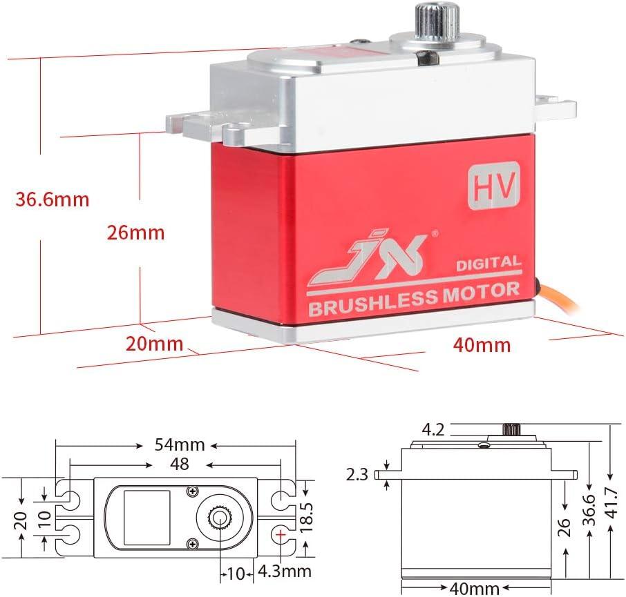 JX Servo BLS-HV7032MG 32kg Large Torge Full Metal CNC High Voltage Digital Servo for RC Car Helicopter Drone Parts