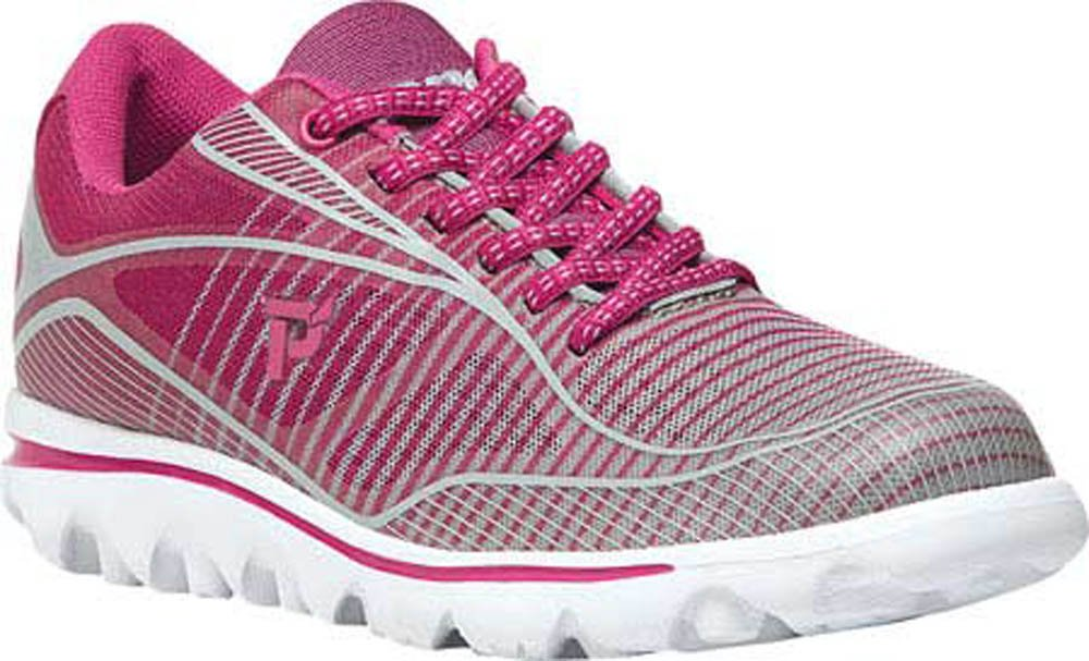 Propet Women's Billie Walking Shoe B0118BK3EC 6 2E US|Pink, Grey