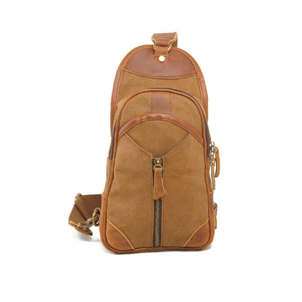 Ybriefbag Outdoor Sports Canvas Chest Pack Crossbody Casual Sling Shoulder Bag Sling Bag Crossbody Backpack for Women Men