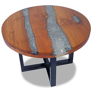 FZYHFA Table Basse en Teck Résine 60cm pour Salon,Jardin ...