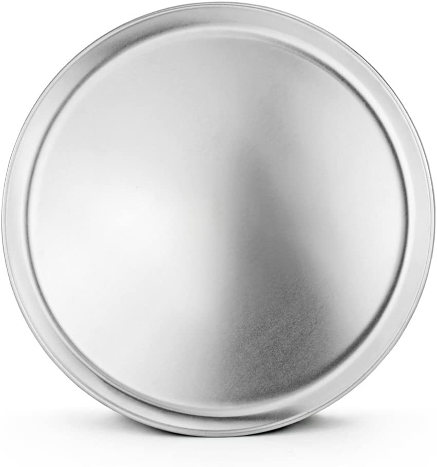 New Star Foodservice 51032 Pizza Pan/Tray, Coupe Style, Aluminum, 14 inch, Pack of 6