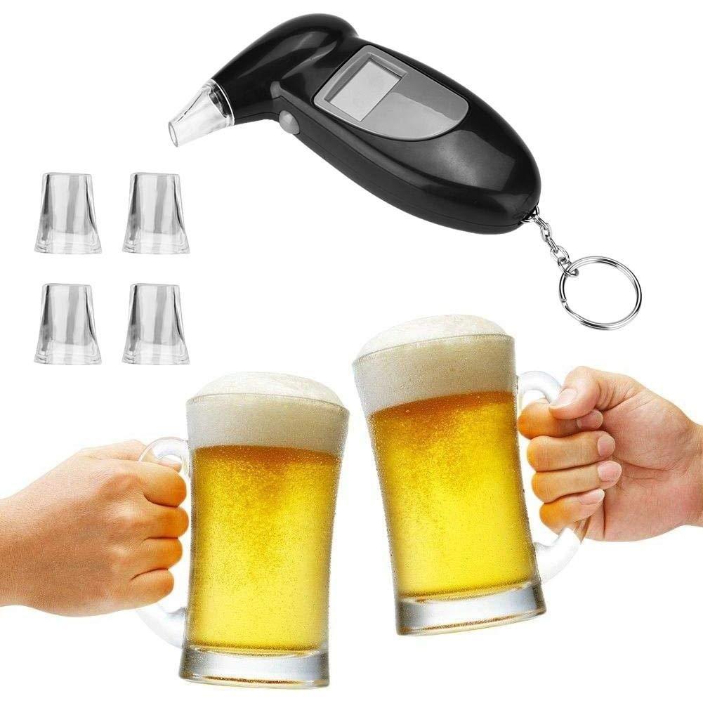 Detector de mentiras-Pantalla LCD Analizador de alcohol en alcohol profesional Detector de mentiras Alcohol/ímetro Sin luz de fondo