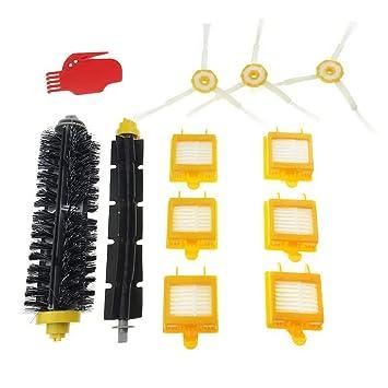 Tomkity Kit Cepillos Reposición de Accesorios para Aspiradoras iRobot Roomba 700 760 770 780 y 790: Amazon.es: Hogar