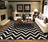 Cheap Large Chevron Pattern Rugs For Living Room Black Cream 8×11 Wavy 8×10 Modern Rugs Zig Zag Contemporary Rugs Zik Zak
