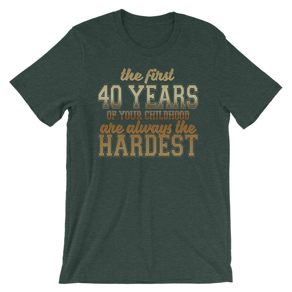 40th Birthday Funny Quote T Shirt Novelty Gift for Men /& Women Graphic Tee