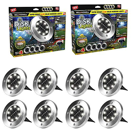 Decorate & protect your home with bell + Howell disk lights. Disk lights are the newest in portable powerful solar powered exterior lighting. You can now decorate your own home without having to pay a fortune. Disk lights require no wires; they a...