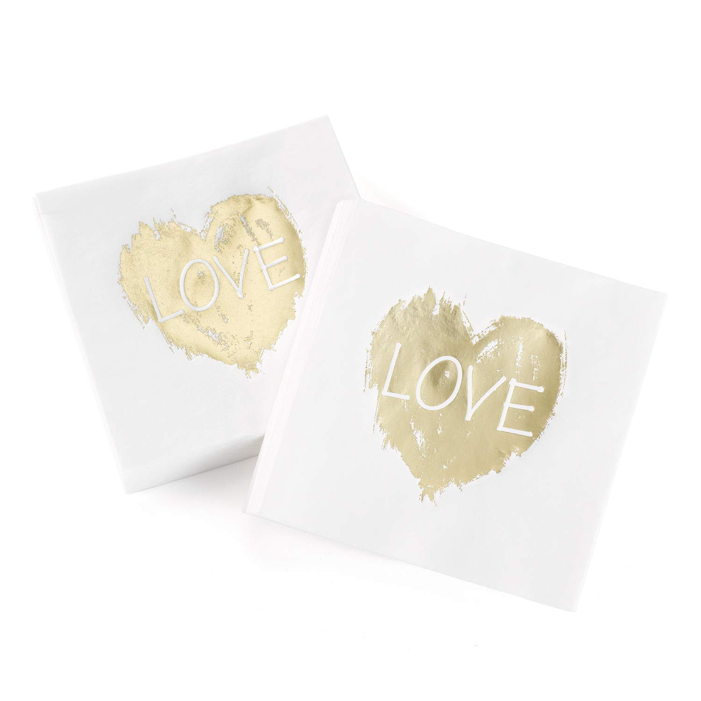24pk Brush of Love - Napkins-Personalized Napkins