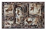 Lodge Western Mat Area Rug Design 384 (2 Feet X 3 Feet 2 Inch) Mat For Sale