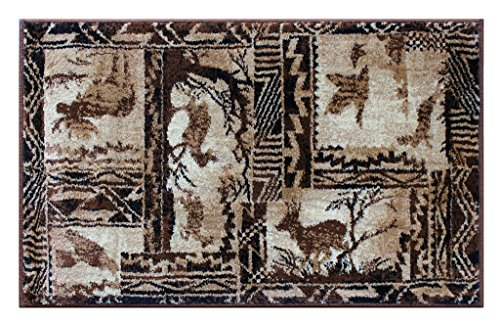 Lodge Western Mat Area Rug Design 384 (2 Feet X 3 Feet 2 Inch) Mat