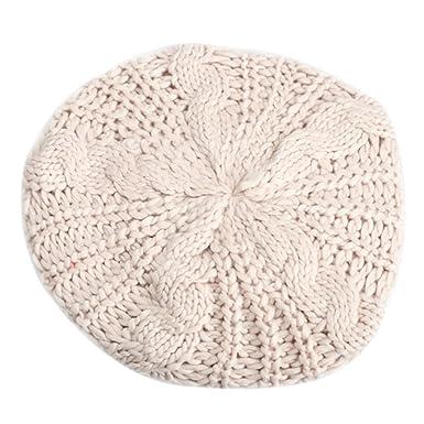 Hrph Béret Tressé Crochet Chapeau Bonnet Ski Tricotés Chuad Hiver Femmes  Style Mode 34740169de0