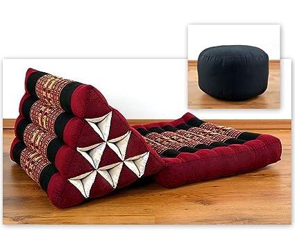 KAPOK Thai Cojín (revestimiento de una) con Yoga Cojín ...