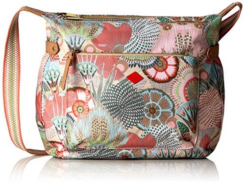 Oilily Oilily Shoulder Bag OES6111-108 Damen Schultertaschen 35x28x11 cm (B x H x T), Mehrfarbig (Peach Rose 108)
