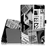 Fintie Nextbook Ares 8 / Nextbook Ares 8A / Nextbook Flexx 8 / Nextbook 8 (Old Version) Tablet Case - Slim Fit Premium Vegan Leather Folio Case Cover with Stylus Holder, Newspaper