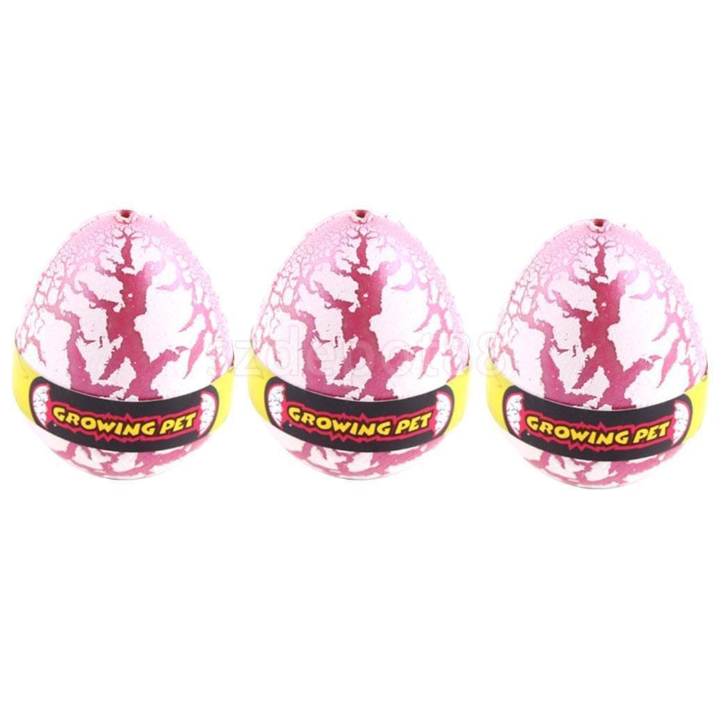 Fantastic 3個ホワイトDinosaur Eggs Funny DinoハッチングChildren Toyギフト   B06XDYPGVK
