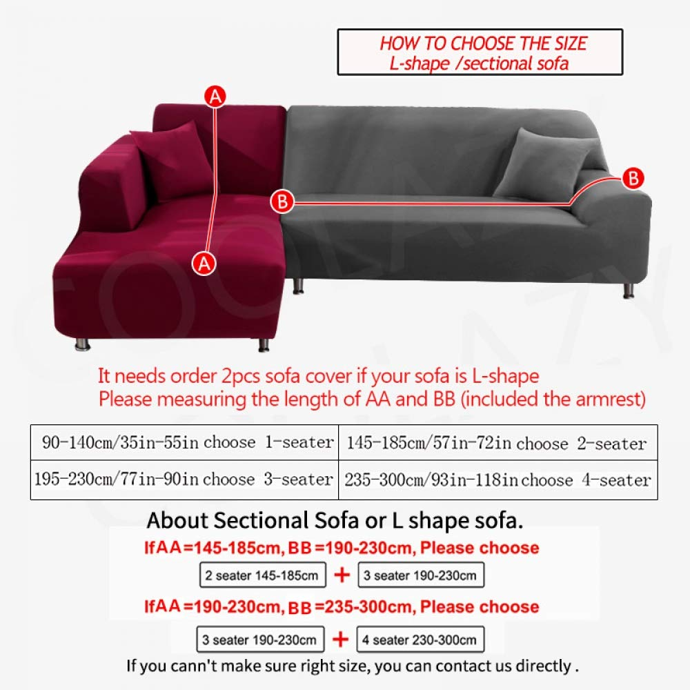 SFWCEA 1/2 Pieces Sofa Cover Set Geometric Couch Cover ...