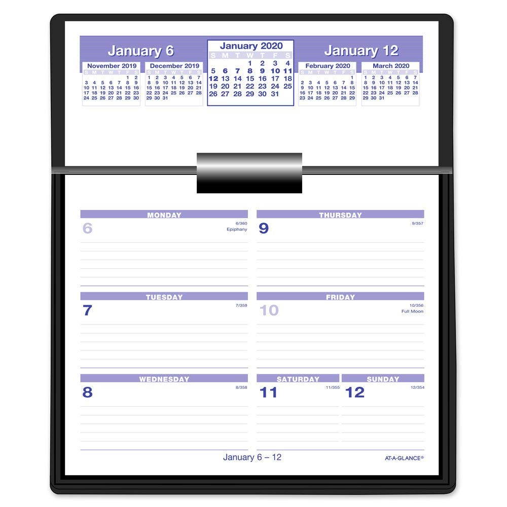 "AT-A-GLANCE 2020 Weekly Desktop Planner, Desk Calendar, Flip-A-Week, 5-1/2"" x 7"", Ringed, Complete Set (SW700X00)"