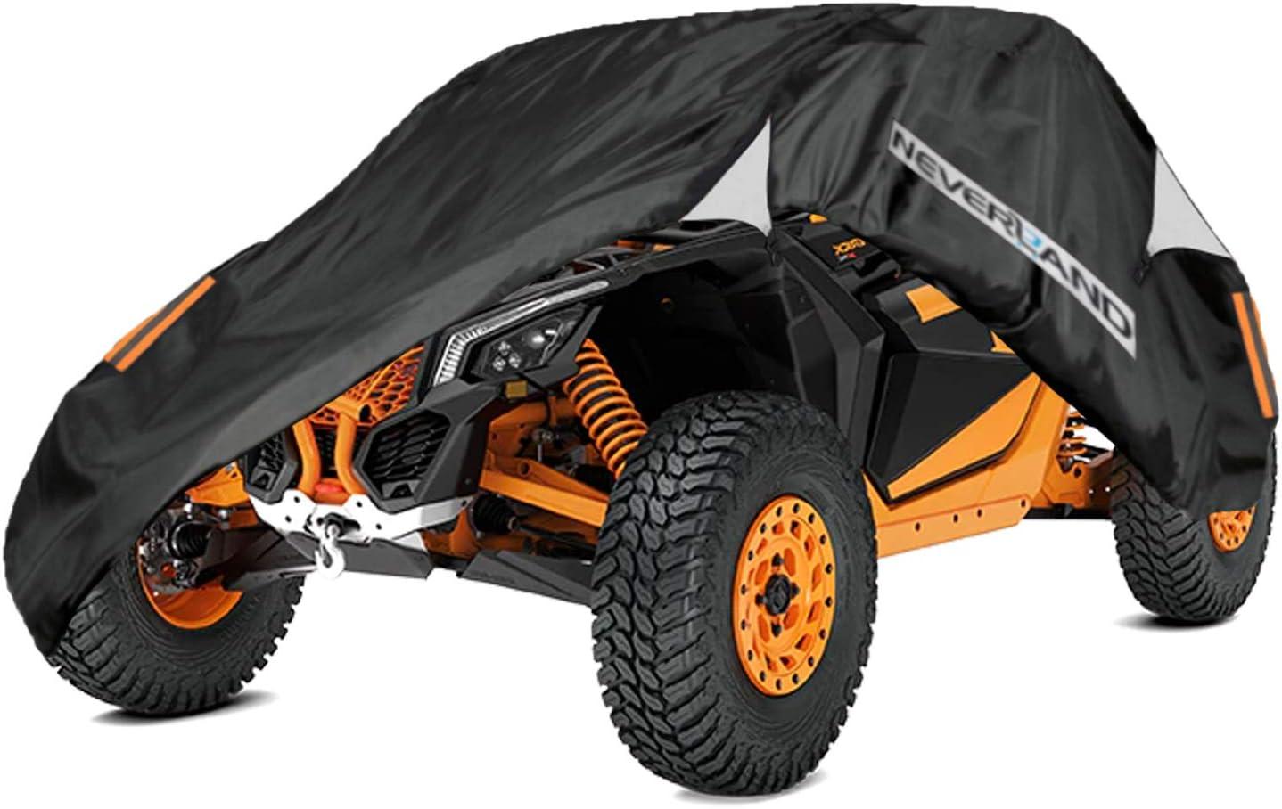 Storage Sun-UV Rain Snow Protector Universal for Can-Am Maverick X3 XMR//XRC//Turbo//900 HO//R//X DS Turbo R//X RC Turbo R//X RS Turbo R//X MR Turbo R Except Max series NEVERLAND UTV Covers