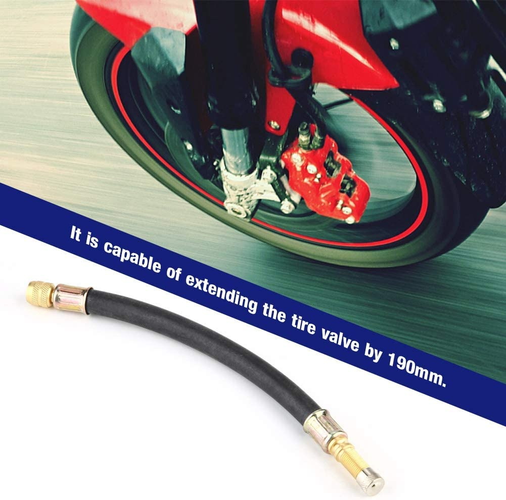 Suuonee Ventilverl/ängerung flexible Gummi Auto LKW Motorrad Rad Reifen Ventilschaftverl/ängerung 190mm