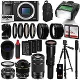 Sony Alpha a6000 Mirrorless Black Digital Camera with 16-2600mm Lens Bundle Kit