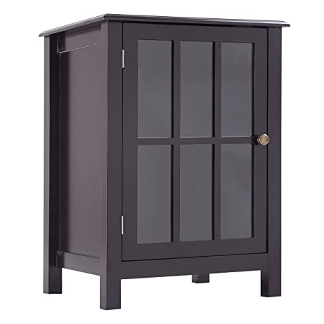 Amazon.com: One Door Accent Cabinet Storage Cabinet 2 Shelf ...
