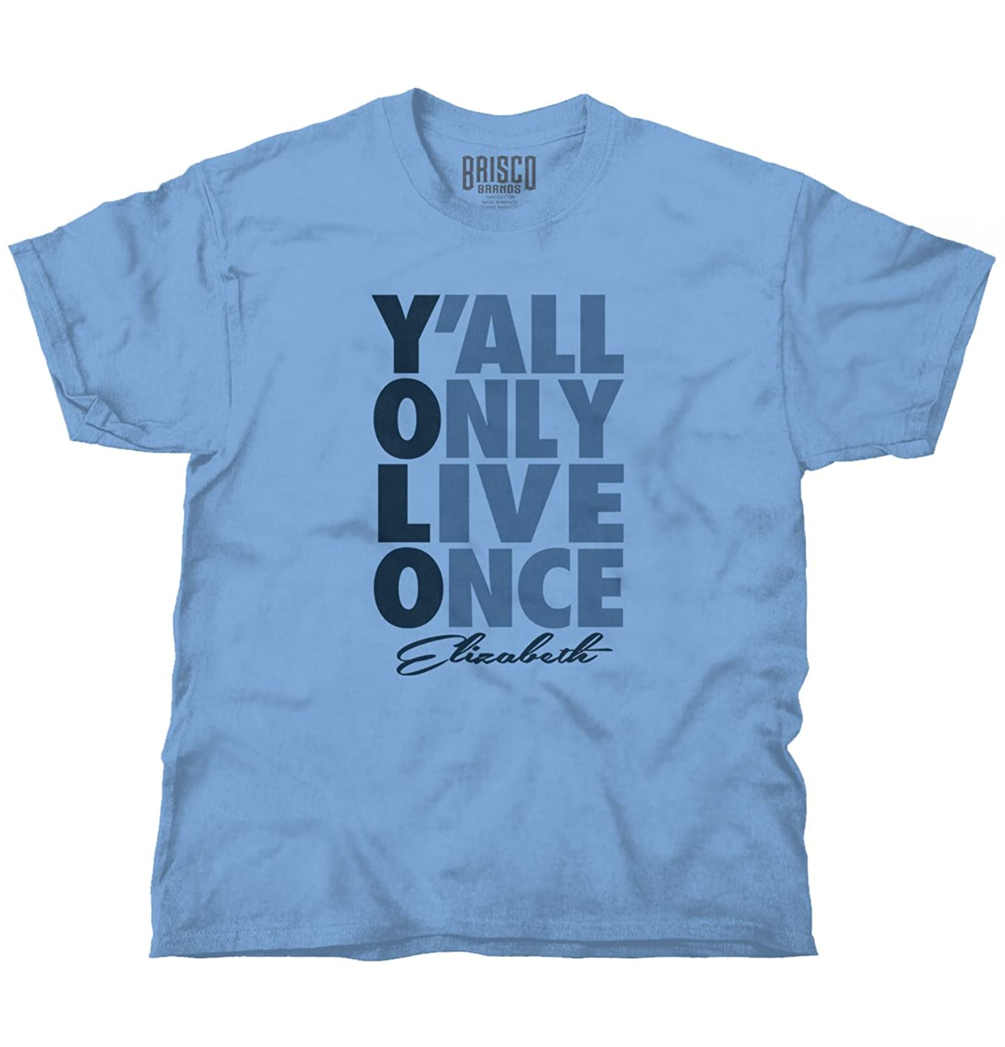 YOLO You Only Live Once Elizabeth, NJ Gift Funny Picture Shirt T Shirt Tee