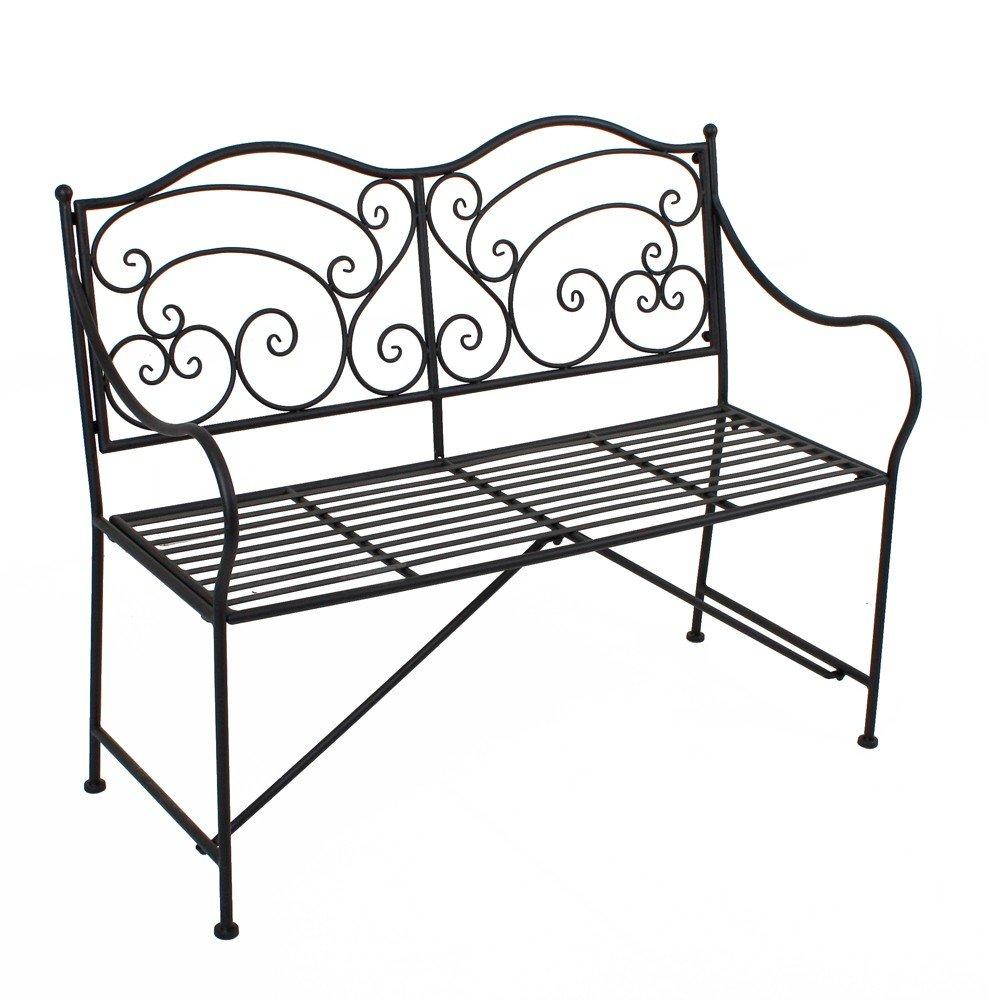 gartenbank metall parkbank sitzbank vintage metall 2 sitzer auch als blumenbank und gartendeko. Black Bedroom Furniture Sets. Home Design Ideas