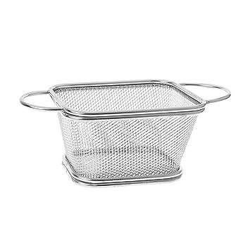 Cutebility - Cesta freidora de acero inoxidable para freidoras francesas, malla para cocinar patatas fritas, aperitivos, utensilios de cocina 04 As Pictures ...