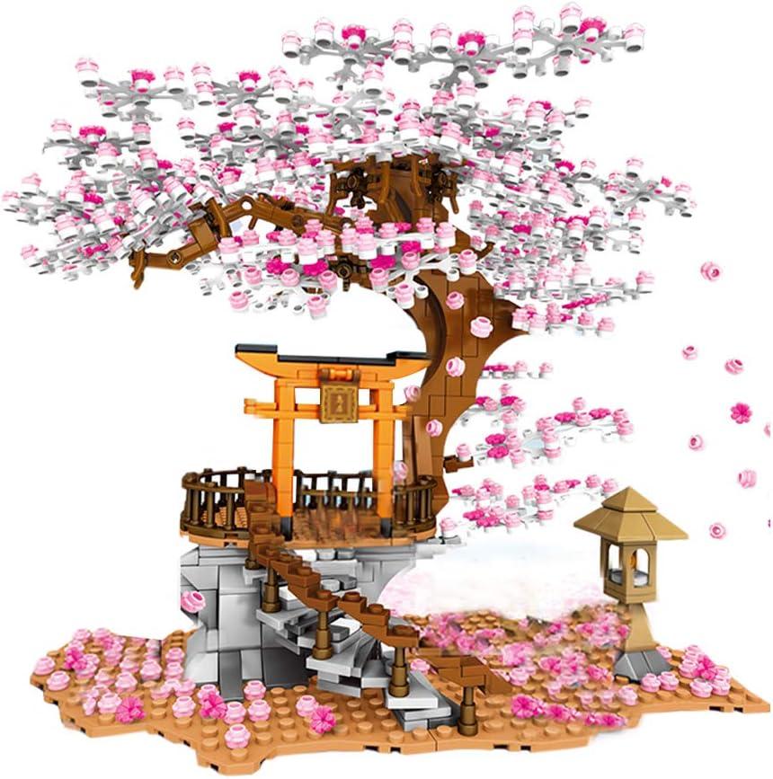 Fujinfeng 1167 Pcs Sakura Tree Building Blocks Model Set Moc Romantic Cherry Blossom Building Blocks Compatible With Lego Amazon Co Uk Toys Games