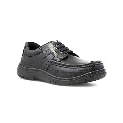Hush Puppies - Zapato de cuero, acordonado, negro, para hombre Hush Puppies - Talla 9 UK / 43 EU - Negro: Amazon.es: Zapatos y complementos