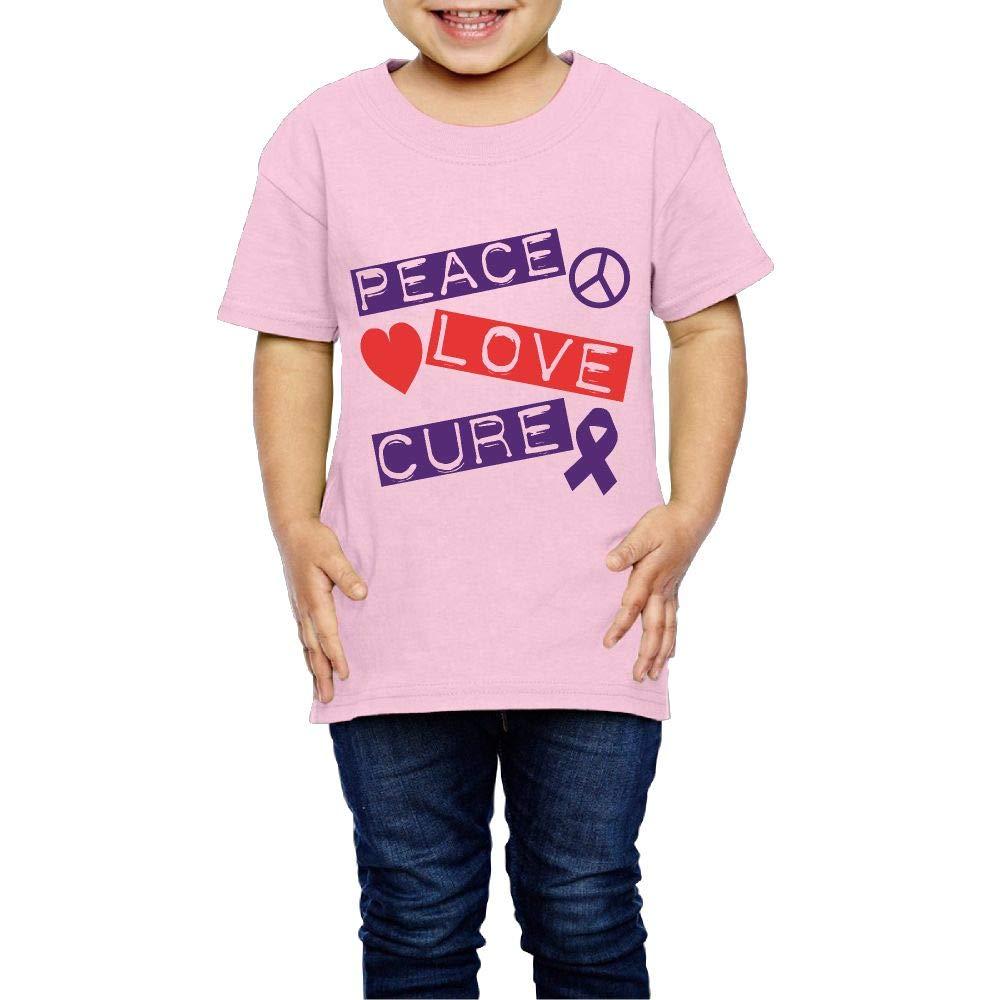 Peace Love Cure Epilepsy 2-6 Years Old Boys /& Girls Short Sleeve T Shirt