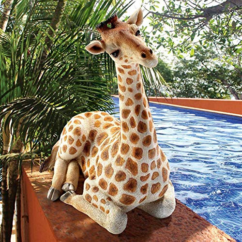 (Design Toscano QM3019700 Zari The Resting Giraffe, Full Color)
