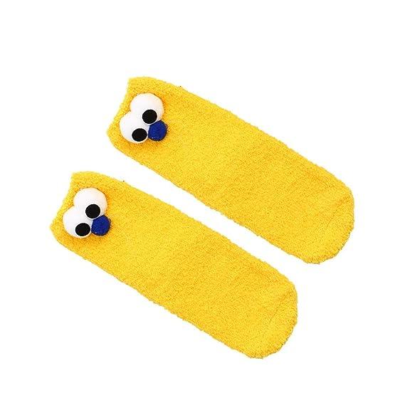 BHYDRY Calcetines de algodón para mujer Calcetines de piso gruesos antideslizantes de lana de coral Calcetines de alfombra: Amazon.es: Ropa y accesorios