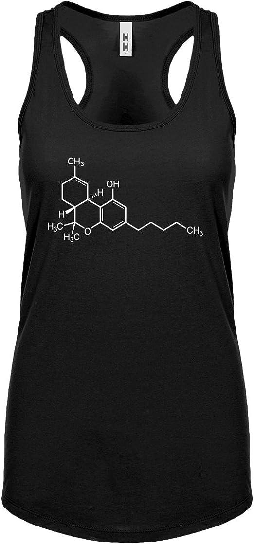 Indica Plateau Womens THC Molecule Racerback Tank Top