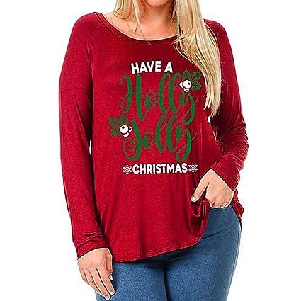 Venta caliente, aimtoppy para mujer Plus tamaño blusa moda Navidad alce béisbol camiseta Tops