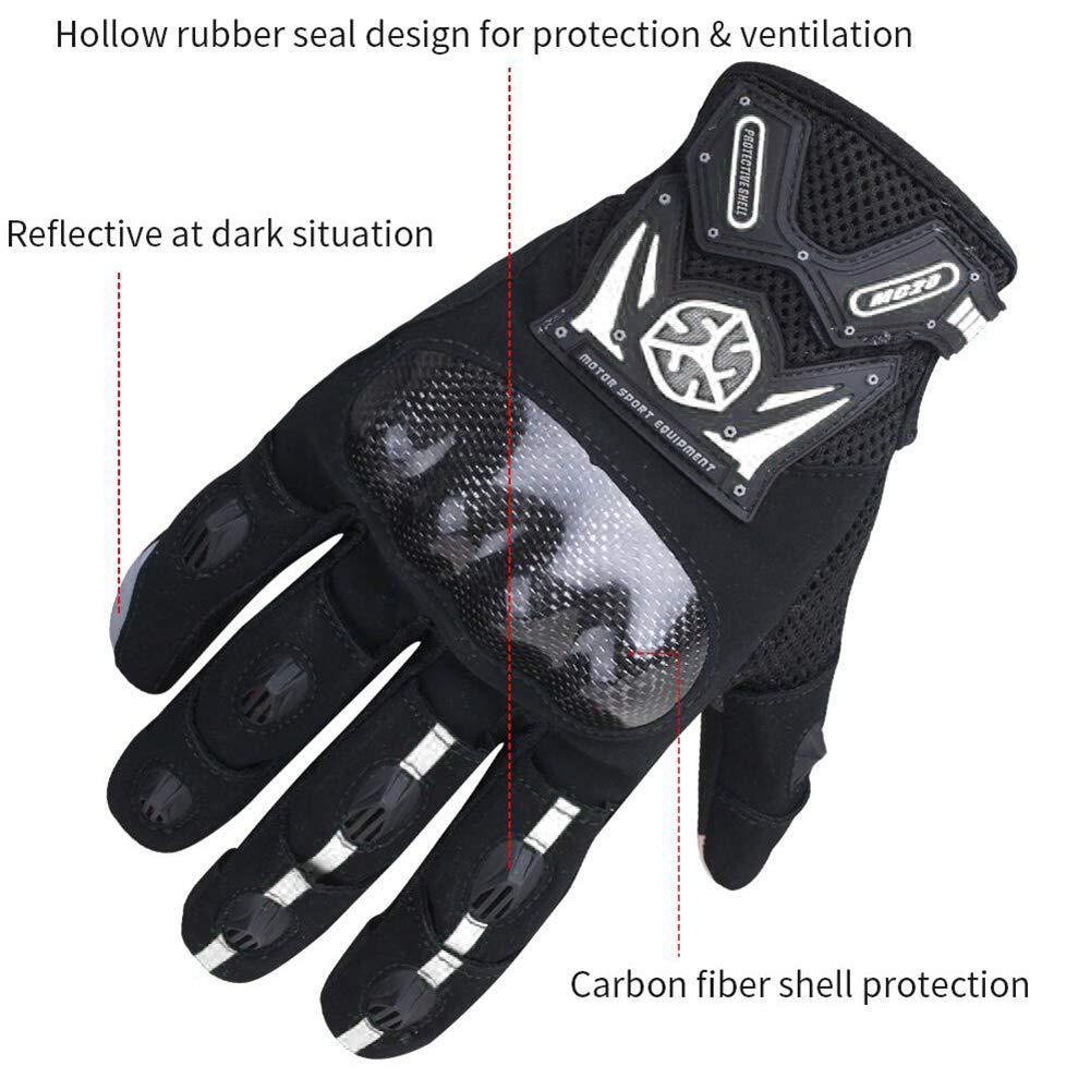 Large, Black Scoyco MC20 Touch Screen Motocicleta Full finger Gloves Motorcycle Gloves Carbon Fiber Gloves