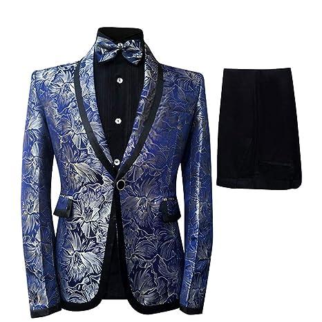 Cloudstyle Men's Tuxedo Casual Dress Suit Slim Fit Jacket & Trouser