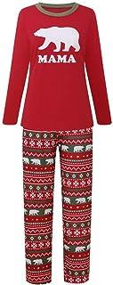 Family Christmas Pajamas Sets Womens Mens Kids Baby Xmas Autumn and Winter Polar Bear Printed Family Pjs Matching Red, Loungewear
