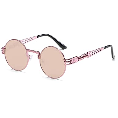 Cvoo Hot Cool Round Steam Punk Sunglasses Women Vintage Luxury Brand Female Sun Glasses For Women Retro Designer Shades dWH2I