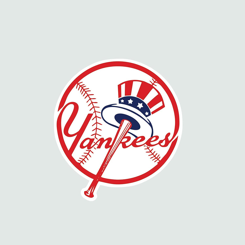New York Yankees Baseball Color Vinyl Decal Sticker